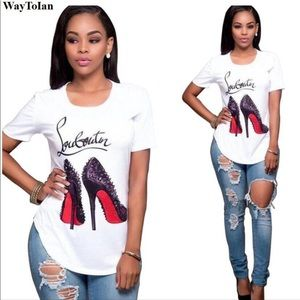 """CHRISTIAN LOUBOUTIN """"The Red Sole"""" T-Shirt"""